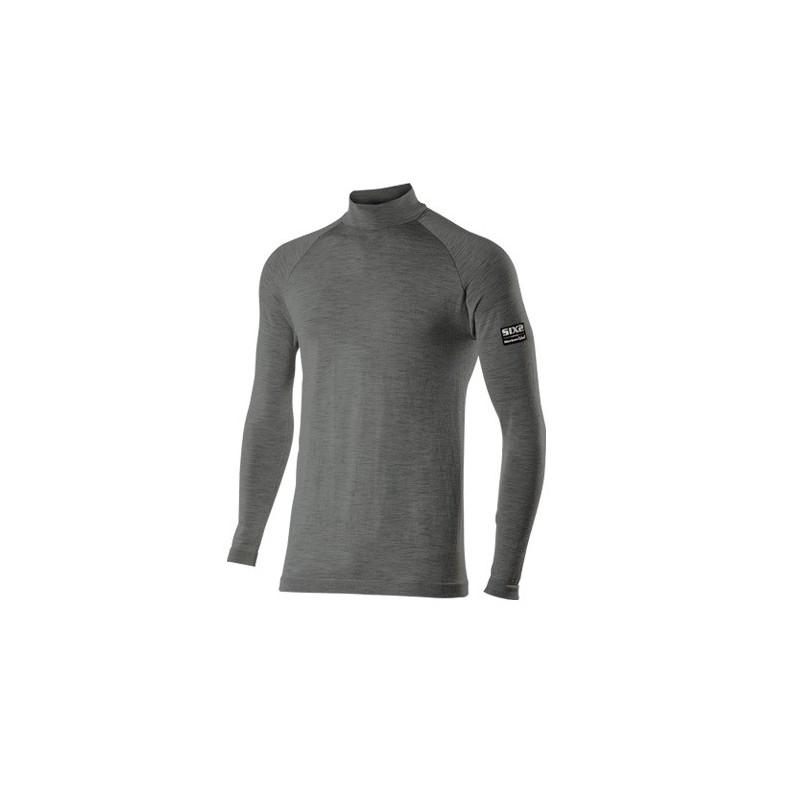 Wool Grey Six2 TS3 MERINOS Jersey Intimo Lupetto Maniche Lunghe Lana