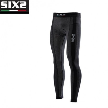 Leggins SuperLight con fondello BLACK CARBON S SIXS UNDERWEAR LIGHT